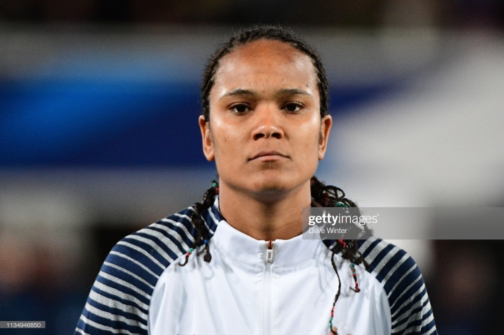 Wendie Renard of France during the Women's International Friendly match between France and Japan at Stade Abbe Deschamps on April 4, 2019 in Auxerre, France. (Photo by Dave Winter/Icon Sport via Getty Images)